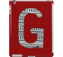 'G' Patterned Monogram  iPad Case/Skin