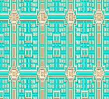 Turquoise fabric wallpaper pattern. by TK0920