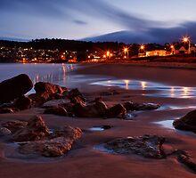 Blackmans Bay Beach at Night by Chris Cobern