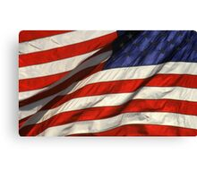 Blowing American Flag Canvas Print