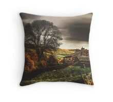 A  November Afternoon Near Keld In Swaledale Throw Pillow