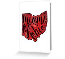 Miami of Ohio Tie Dye Greeting Card