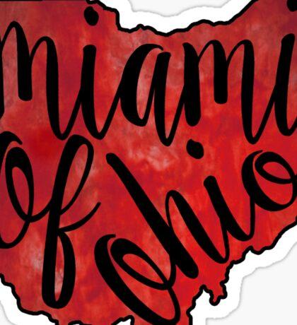 Miami of Ohio Tie Dye Sticker
