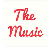 The Music - Red Art Print