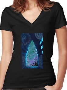 Lord Pacal - Time Traveller Women's Fitted V-Neck T-Shirt