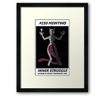 Mewtwo: Inner Struggle Framed Print