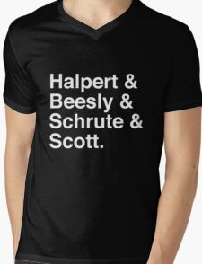Halpert & Beesly & Schrute & Scott. Mens V-Neck T-Shirt