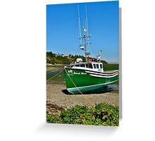 Waiting for the Tide in Yarmouth Bar Greeting Card