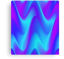 Blue Waves pattern in creative abstract design. Canvas Print