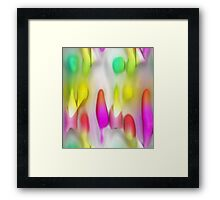 Colorful abstract background with unique pattern. Framed Print