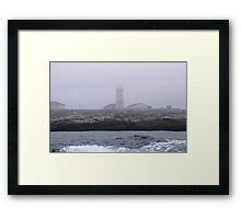 Foggy Coastline Framed Print