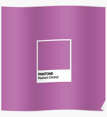 PANTONE Radiant Orchid Poster