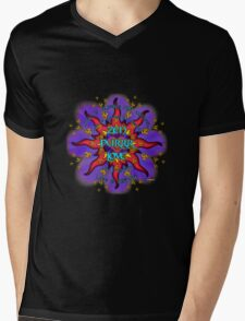 INFINITE LOVE GALACTIC OMMM BLOSSOM Mens V-Neck T-Shirt