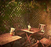 The Courtyard II - (Mangiacake Panini Shoppe) by Robin Webster