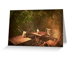 The Courtyard II - (Mangiacake Panini Shoppe) Greeting Card