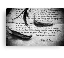 Signed, Edgar A. Poe Canvas Print