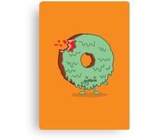 The Zombie Donut Canvas Print