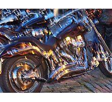 Gleaming motorbikes  Photographic Print