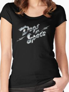 Dogs In Space - Chrome Women's Fitted Scoop T-Shirt