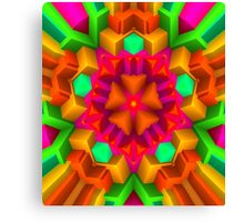 3D Pattern in a Vivid Wild Colors and Unique Style! Canvas Print
