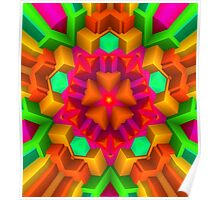 3D Pattern in a Vivid Wild Colors and Unique Style! Poster