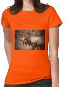 Bellowing Bull Elk Womens Fitted T-Shirt