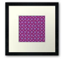 Magenta blue yellow dots background Framed Print
