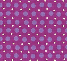 Magenta blue yellow dots background by DavidMay
