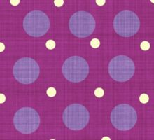 Magenta blue yellow dots background Sticker