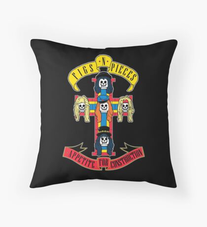 Appetite for Construction Throw Pillow