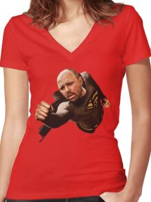 Bullshit Man - No Text Women's Fitted V-Neck T-Shirt