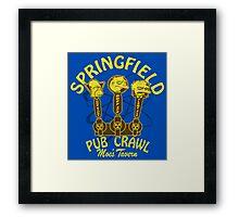 Pub Crawl Framed Print