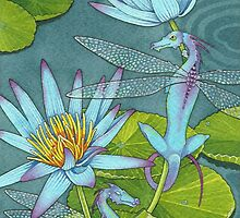 Dragonflies and Lotus by BlissAndKittens