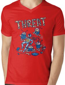 Threat -battle of the robots- Mens V-Neck T-Shirt