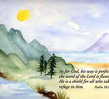 Gods way -  Psalm 18:30 by Diane Hall