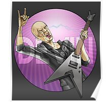 Devin Townsend Guitar Purple Circle Poster