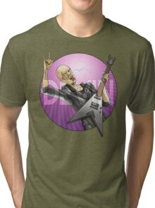 Devin Townsend Guitar Purple Circle Tri-blend T-Shirt