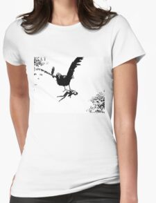 Barbie Carried Away By Monsterbird Womens Fitted T-Shirt