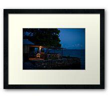 the Cafe, Jabor, Jaluit, Marshall Islands Framed Print
