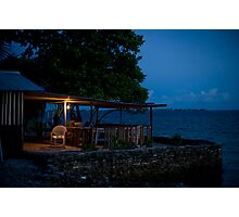 the Cafe, Jabor, Jaluit, Marshall Islands Photographic Print