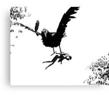 Barbie Carried Away By Monsterbird Canvas Print