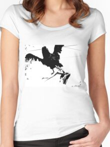 Giant Monsterbird Continues his Nefarious Journey Women's Fitted Scoop T-Shirt