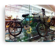 Antique Bike needs an Upgrade Canvas Print