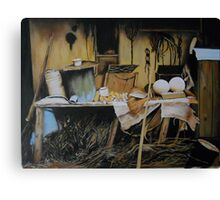 The Workplace from a Photo by Elenarstanila Canvas Print