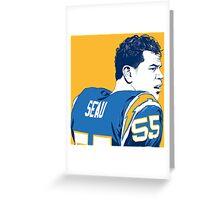 Seau - Powder Blue Greeting Card