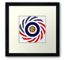 Minnesota Murican Patriot Flag Series Framed Print