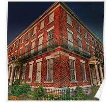 Red Brick Corner in Georgian Liverpool Poster