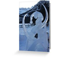 Ice Sculpture.   Greeting Card