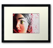 Melancholy Sally Framed Print