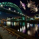 Tyne Bridge Fireworks, Newcastle upon Tyne, UK by David Lewins LRPS